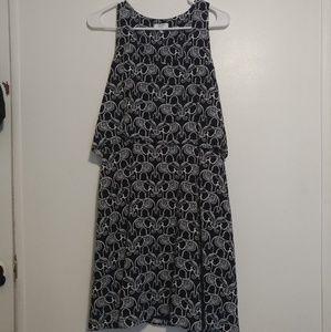 Crown & Ivy navy elephant print dress